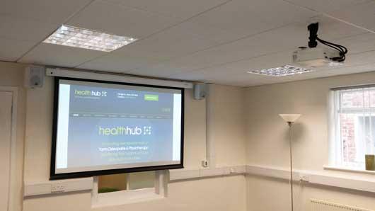 Health-Hub-Projector-Install